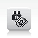 Vector illustration of single energy price icon