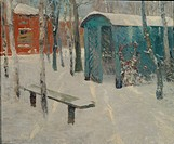 Early Snow. Found in the collection of the State Tretyakov Gallery, Moscow.