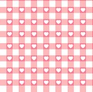 Swatch ready seamless Hearts & Gingham. EPS 8
