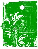 the green vector grunge background