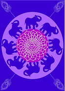 Festive typical indian elephant background