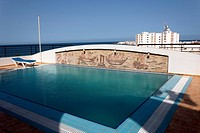 Tunisia - Madhia - Swimming pool on the roof of the Phoenix hotel