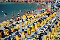 Monterosso Beach, Italy, Europe.