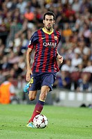 FC Barcelona. Sergio Busquets in action.