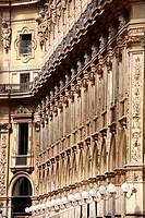 Interior of Galleria Vittorio Emanuele in Milan Italy.