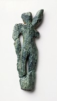 Dancing woman, Venus of Galgenberg, carved in green serpentine, about 30,000 years old (Upper Palaeolithic) from Galgenberg, Austria. Created by early...