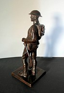'American Expeditionary Force Officer in full marching order.  Cast by the Gorham Company Founders, Providence, Rhode Island, (marked QBSM). . Aristid...