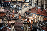 France, Rhone, Lyon, historical site listed as World Heritage by UNESCO, Vieux Lyon Old Town.