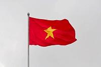 Vietnamese Flag in Hanoi, Vietnam