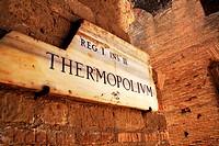Thermopolium, Tavern, Ostia Antica, near Rome, Lazio, Italy