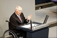 Germany, Berlin. 18th April, 2013. German Finance Minister Wolfgang Schaeuble gives statement on government financial support to Cyprus. / Plenary mee...