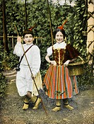 Children from Madeira in traditional (and brightly coloured) costume.