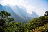 Mountain range between Vang Vieng and Luang Prabang.