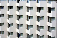 monotonous hotel frontage