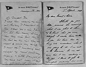 Two original letters, dated 7 and 11 April 1912, from passengers on the ill-fated passenger liner Titanic bearing the White Star Line insignia. They a...