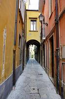 Narrow alleyway in Isernia, Molise, Italy