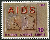 CYPRUS - 1995: shows Fight against AIDS, series Health
