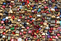 A lot of padlocks on the Hohenzollern-bridge, Colo