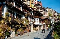 Traditional houses in Veliko Tarnovo Old Town ( Bulgaria).