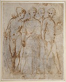 Group of Warriors. Raphael