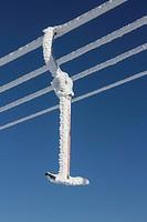 Germany, Bavaria, Sudelfeld, winter, chairlift