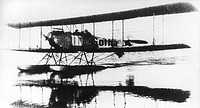 A German Gotha WD1 seaplane, used for coastal patrol work in the early part of the First World War. It was a two-seater, with a 100 horsepower Daimler...