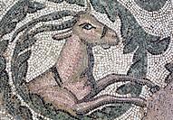 Roman floor mosaic, Villa Romana del Casale, Piazza Armerina, Sicily, Italy.