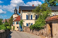 Meinholdsches Turmhaus, Wine-growing estate built at 1720, Radebeul near Dresden, Saxony, Germany, Europe.