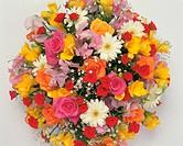 Flower bouquet, white background