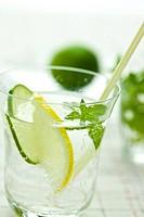 Soda with Lemon and Lime
