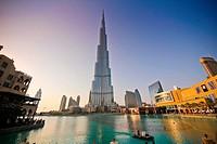 Burj Khalifa, Burj Dubai, the tallest building in the world in downtown Dubai.