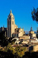 Cathedral and overview of Segovia, city declarated Historical-Artistic Site, and World Heritage by UNESCO.