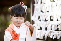 Japanese girl at Seven-Five-Three ceremony