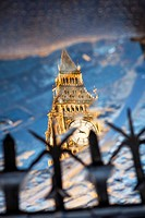 Big Ben reflection,The Houses of Parliament,London,England.