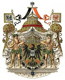 Coat of arms, symbol of the German Empire, great Imperial coat of arms of the German Emperor, 19th Century, 1894