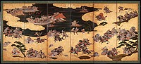Battle scenes from the Tale of Heike (Heike Monogatari), First third of 17th cen. Artist: Anonymous