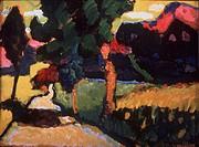Summer landscape, 1909. Artist: Kandinsky, Wassily Vasilyevich (1866-1944)