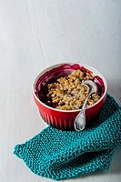 Individual berry crumbles