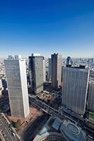 Cityscape in Shinjuku ward, Tokyo Prefecture, Honshu, Japan
