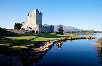 Ross Castle on the Shores of Lough Leane, Killarney National Park, County Kerry, Ireland.