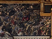 Heaven, by Jacopo Robusti known as Tintoretto, 1588 - 1592 about, 16th Century, oil on canvas, cm 700 x 2200. Italy, Veneto, Venice, Doges Palace. De...