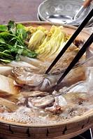 Crock Pot Nabe Sailfin Sandfish Seafood Vegetable