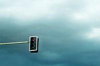 semaphore on a cloudy sky.