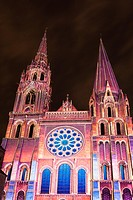 Cathedral of Chartres, Eure-Et-Loir, Centre, France.