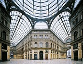 Galleria Umberto I, by Ernesto Di Mauro, Emanuele Rocco, 1887 - 1890, 19th Century. Italy, Campania, Naples, Galleria Umberto I. Detail on the interio...