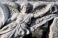 Detail of a frieze in Ephesus, Turkey. Greek-Roman civilisation.