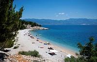 Nudist beach, Baška, Kvarner Gulf, Krk Island, Croatia