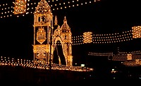 lighting, Feria de Abril, Sevilla, Spain.