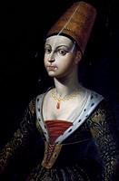 Portrait of Francoise de Boulogne, Castle of Lapalisse (La Palice), Auvergne, France.
