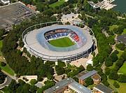 Hannover 05.08.2007 Die AWD-Arena, früher Niedersachsenstadion, im Stadtteil Calenberger Neustadt. Das Stadion bietet Platz für 49.000 Zuschauer und i...